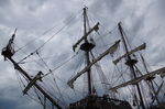 The masts of a tall ship